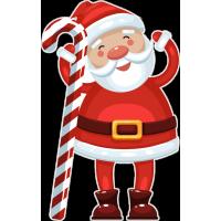 Санта Клаус с новогодней конфетой
