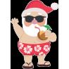 Санта Клаус на курорте