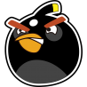 Черная птица из Angry Birds