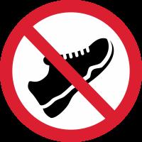 Входить в обуви Запрещено 1