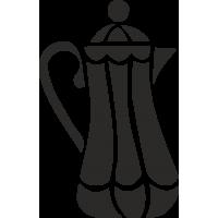 Высокий чайник с узором