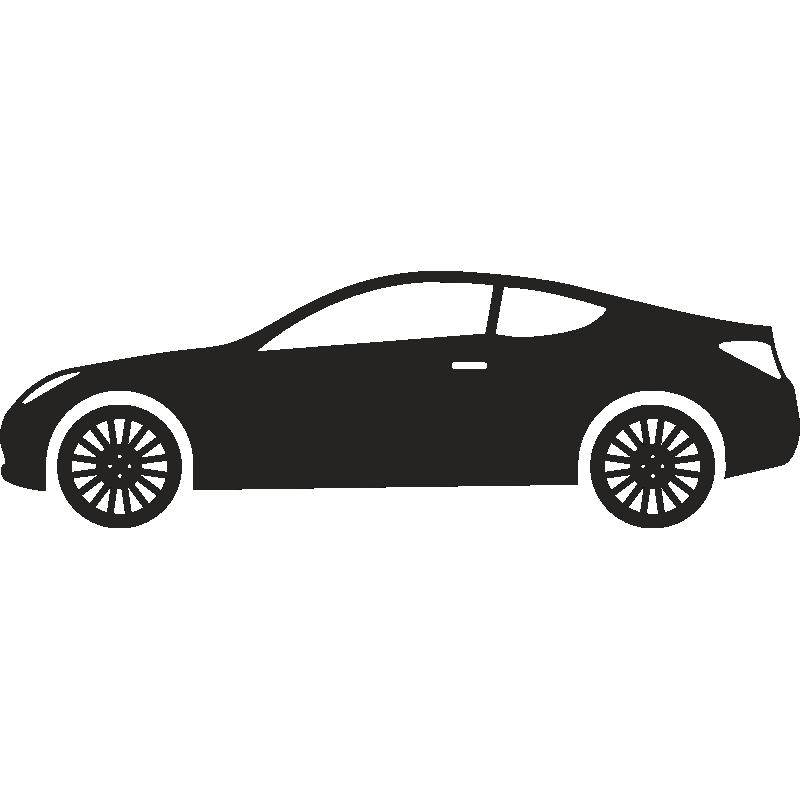 Машины в профиль вектор