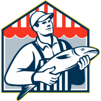 Мужчина с рыбой в руках