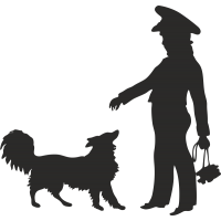 Полицейская с собакой