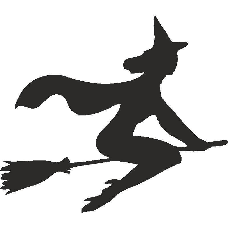 Картинки ведьмы на метле