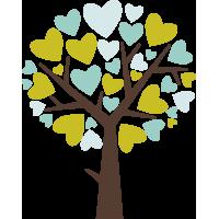 Дерево с сердцами