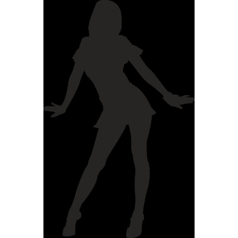 Девушка в танце силуэт