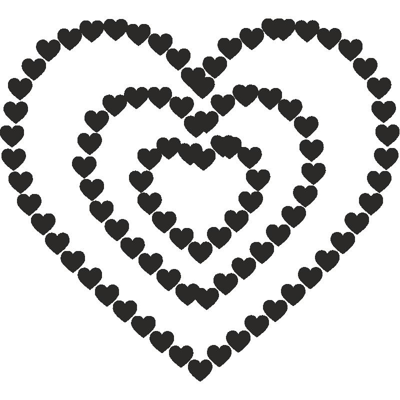 Рисунок в вк из сердечек