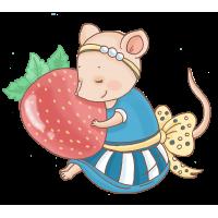 Мышка с клубникой