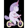 Единорог на велосипеде