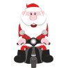 Дед Мороз на мотоцикле