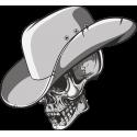 Череп в шляпе ковбоя