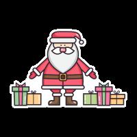 Санта с подарками