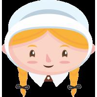 Монашка с светлыми волосами