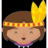 Индианка с пером в волосах