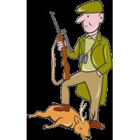 Охотник с убитым оленем