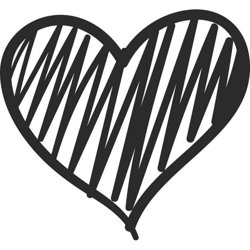 Графичная открытка с сердцем