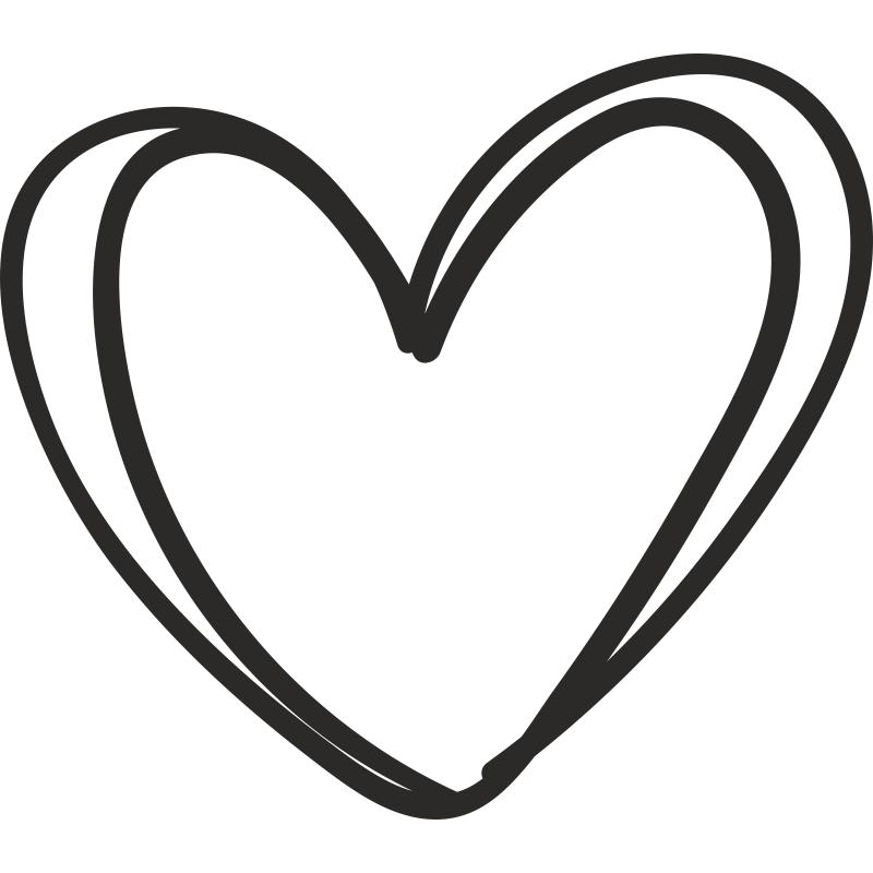 сердце контур картинка часто