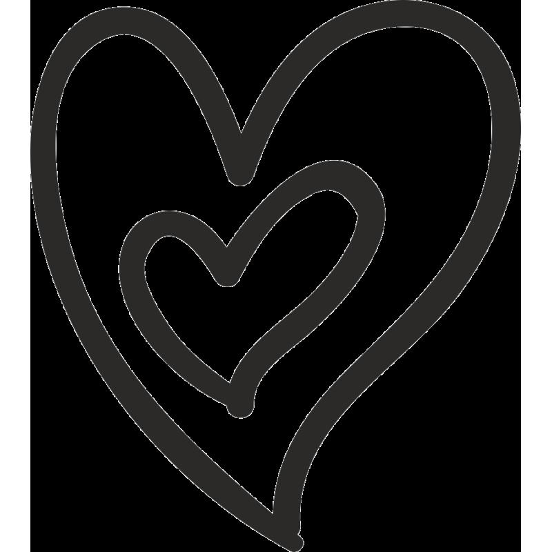 Картинка сердечко на прозрачном фоне черно белое маленькое