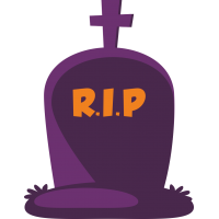 Фиолетовое надгробие