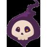 Фиолетовый череп в шляпе