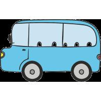 Автобус голубого цвет