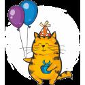 Кот с шариками