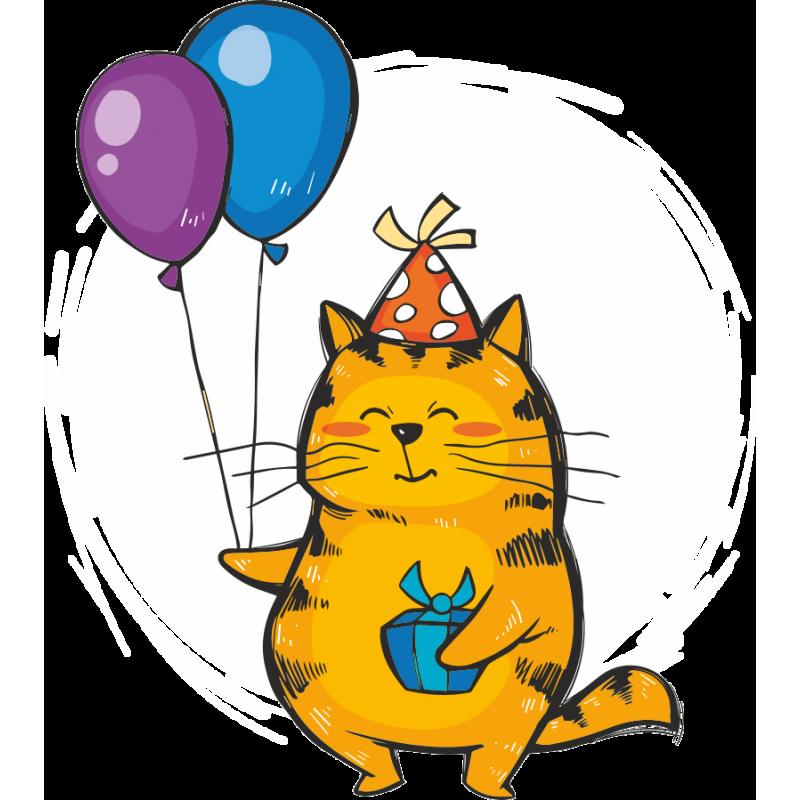 Как нарисовать открытка с днем рождения с котами, гуси