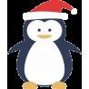 Пингвин в шапке Деда Мороза