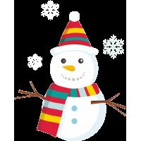 Снеговик в шарфе и шапке