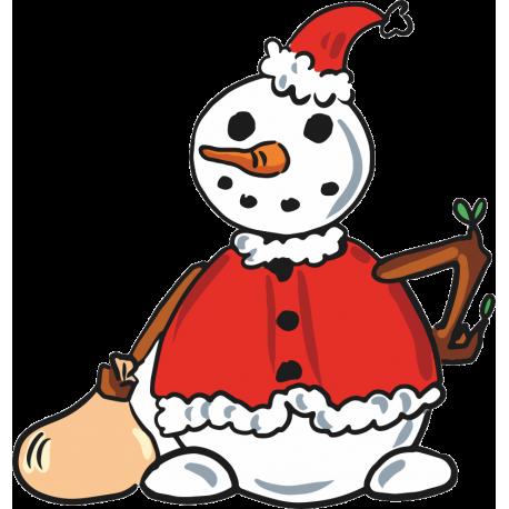 Снеговик с мешком