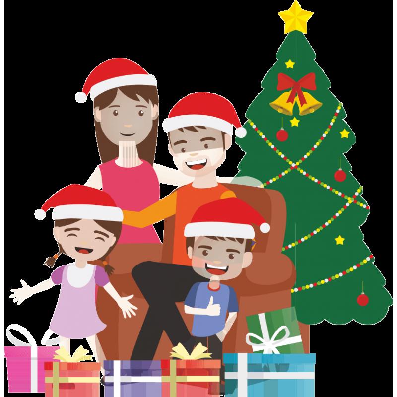 Рисунки семейные традиции новый год