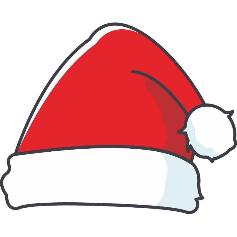 новогодние шапочки картинки на прозрачном фоне