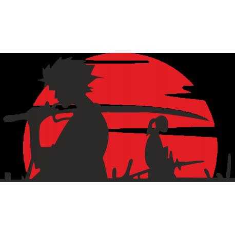 Самураи на фоне восходящего солнца