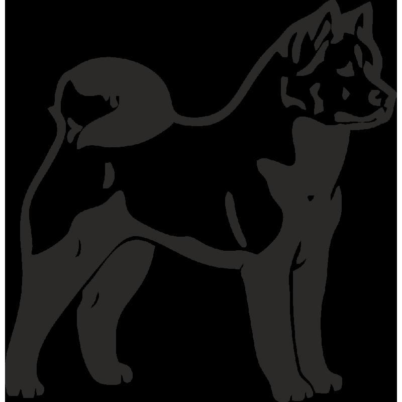 Картинка трафарет собака