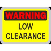 WARNING. Low clearance - ПРЕДУПРЕЖДЕНИЕ. Низкий автомобиль