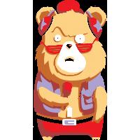 Медведь с микрофоном