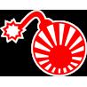 Бомба с японским флагом