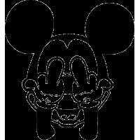 Микки Маус показывает средний палец