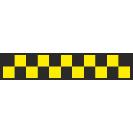 Шашечки для такси черно-желтые