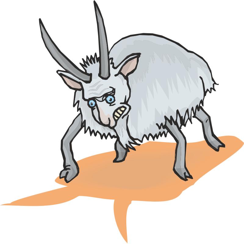 Рисунки козла смешные