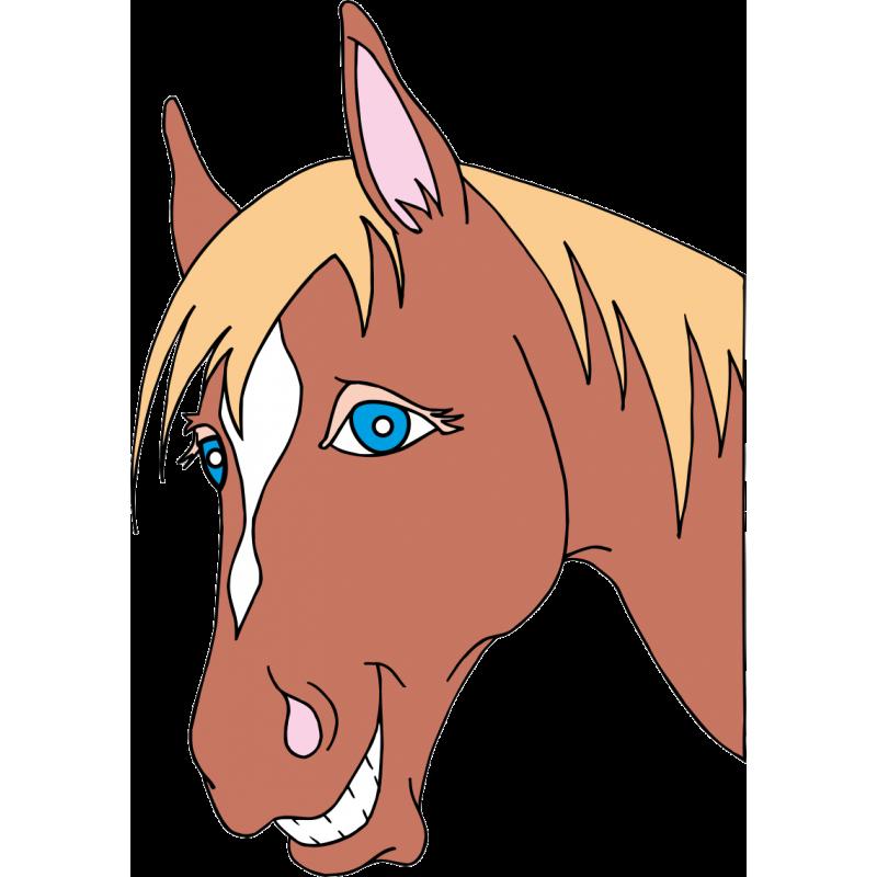 Картинка морда лошадь для детей