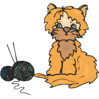 Кот и два клубка ткани