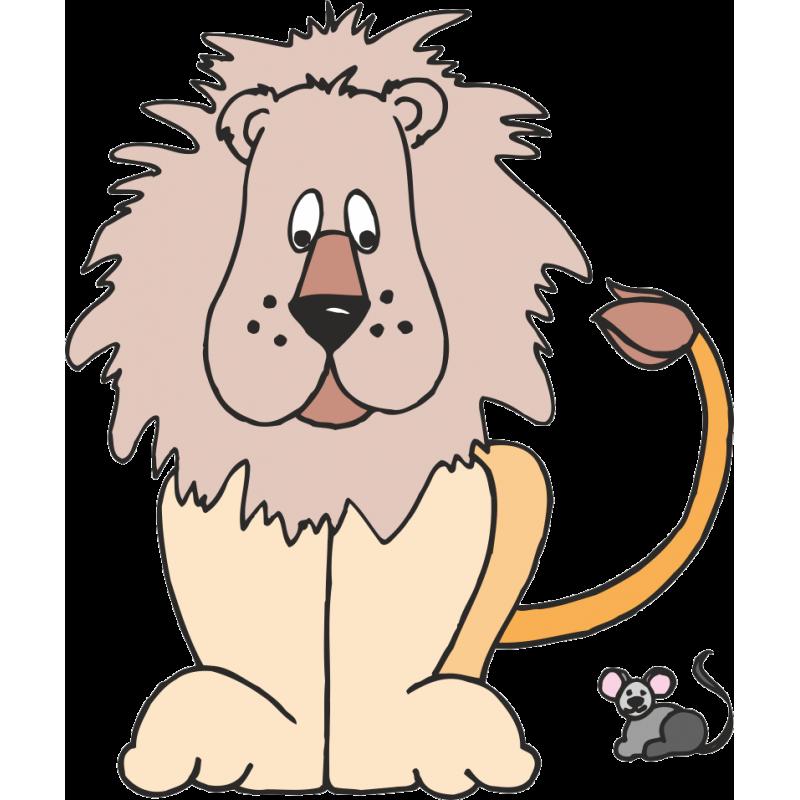 Смешной рисунок льва