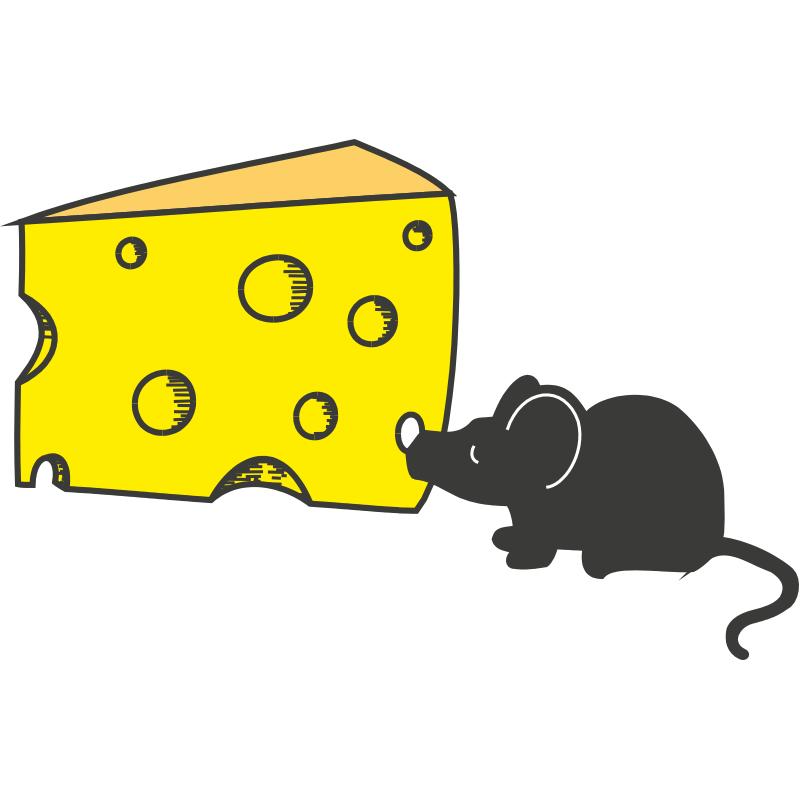 Картинка мышка с сыром для детей