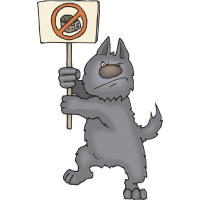Кот протестует против ошейников