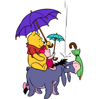 """Винни-Пух с Пятачком едут на Иа из мультфильма """"Новые приключения Винни-Пуха"""""""