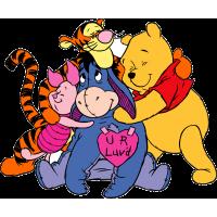"""Винни-Пух, Тигра, Иа и Пятачок из мультфильма """"Новые приключения Винни-Пуха"""""""