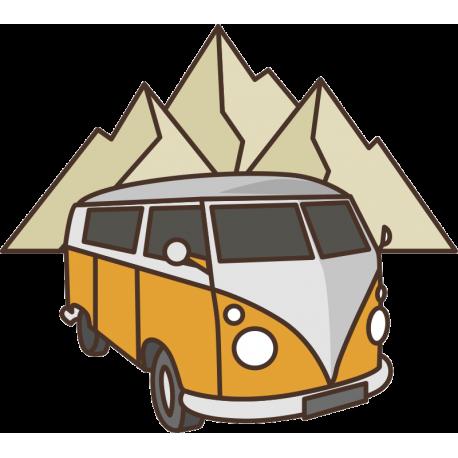 Желтый Фольксваген Т1 VW Camper