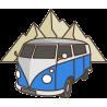 Синий Фольксваген Т1 VW Camper